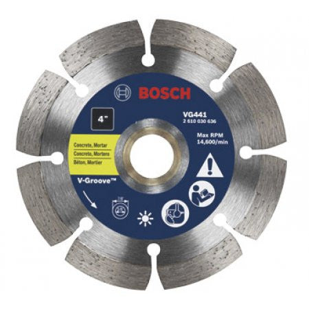 "Bosch Tools 5"" Segmented Rim V-Groove Diamond Blade For Universal Rough Cuts  - VG541"