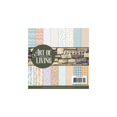 Find It Trading Jeanine's Art Paper Pack 6inX6in Art of Living Double-Sided Designs 23pk