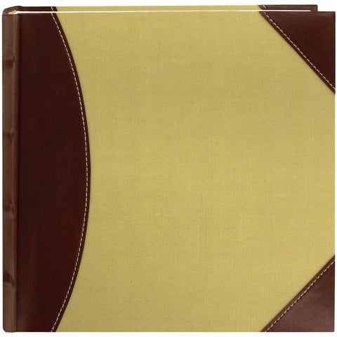 Pioneer 2 Up High CapacityPhoto Album Brown and Beige 8inX8in