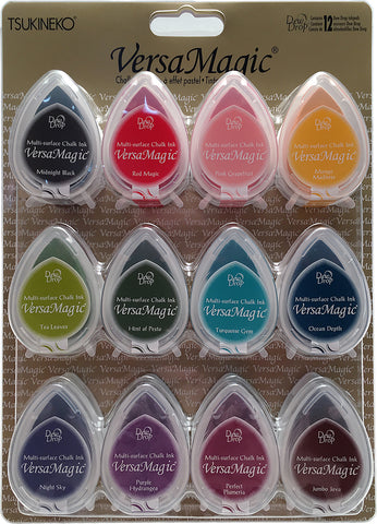 VersaMagic Dew Drop Multi Surface Chalk Ink Pads Assorted 12pk