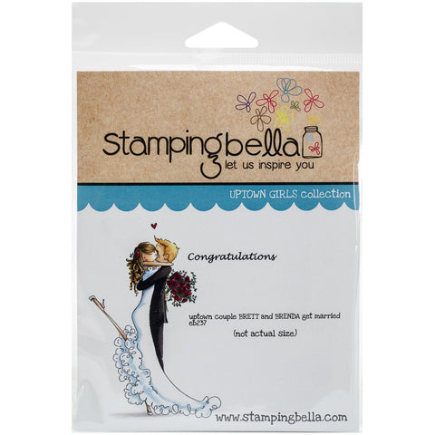 Stamping Bella Cling Stamp Brett and Brenda Get Married 6.5inX4.5in