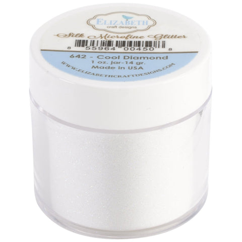 Elizabeth Craft Designs Silk Microfine Glitter Cool Diamond 1oz