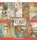 Stamperia Double-Sided Paper Pad Time Is An Illusion 12inX12in 10pk