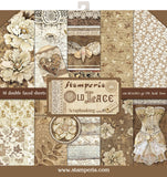 Stamperia Double-Sided Paper Pad Old Lace 12inX12in 10pk