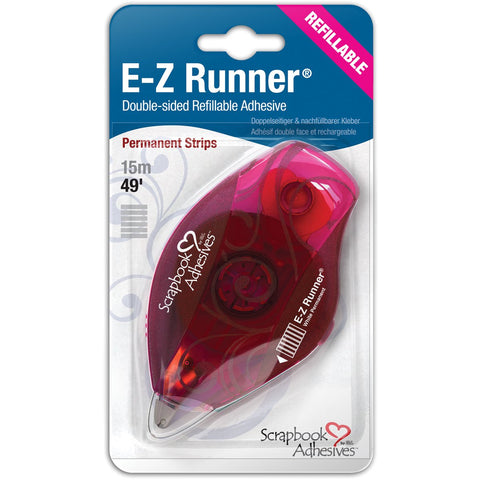 E-Z Runner Refillable Dispenser with Permanent Adhesive Permanent