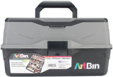 ArtBin Lift Tray Box with 3 Trays & Quick Access Lid Storage Black & Gray 9inX15.75inX8.375in