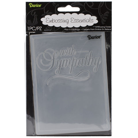 Embossing Folder with Sympathy 4.25inx5.75in