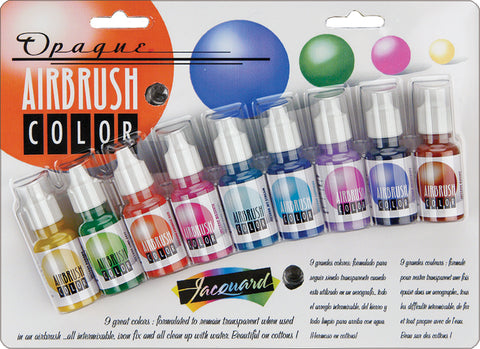 Jacquard Opaque Airbrush Exciter Pack .5oz 9pk