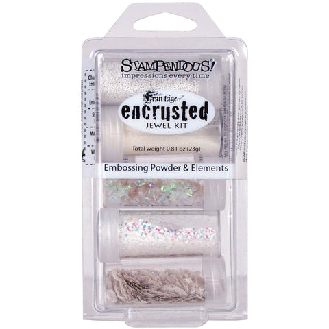Stampendous Encrusted Jewel Embossing Powder and Elements White