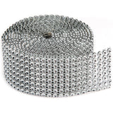 Bling On A Roll 8 Rows Silver 3mmX2yd