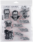 Tim Holtz Cling Stamps Monstrous 7inX8.5in