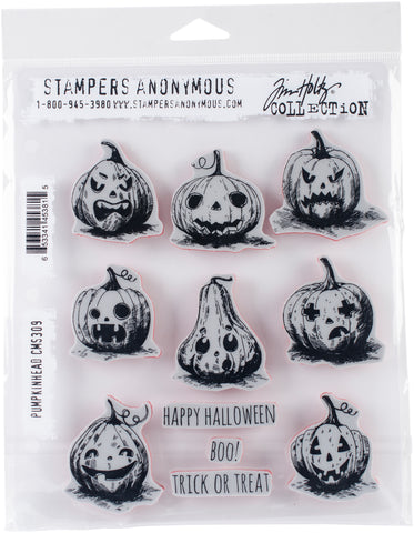 Tim Holtz Cling Stamps Pumkinhead 7inX8.5in