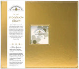 Doodlebug Storybook Metallic Album Gold Metallic 12inX12in