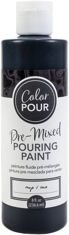American Crafts Color Pour Pre-Mixed Paint Onyx 8oz
