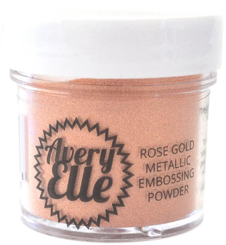 Avery Elle Metallic Fine Embossing Powder Rose Gold 1oz