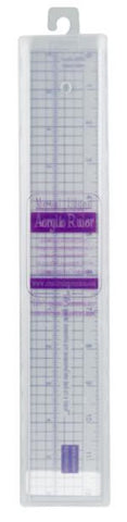 Acrylic Ruler with Metal Edge 12in