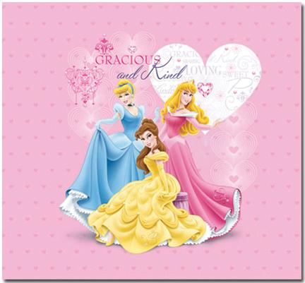 Trends Princess Glitter and Embossed Post Bound Album 12inX12in