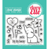 Avery Elle Clear Stamp Set Ellie 4inx3in