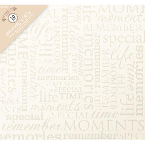 Colorbok Post Bound Album Memories Cream 12inX12in