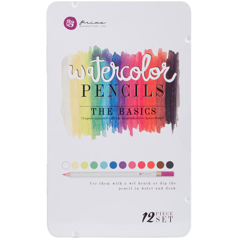 Prima Marketing Watercolor Pencils The Basics 12pk