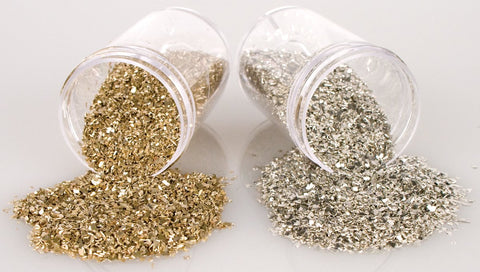 Stampendous Frantage Crushed Glass Glitter Silver 1.41oz