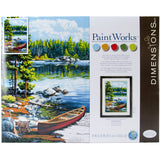 Paint Works Paint By Number Kit Canoe By The Lake 14inX20in