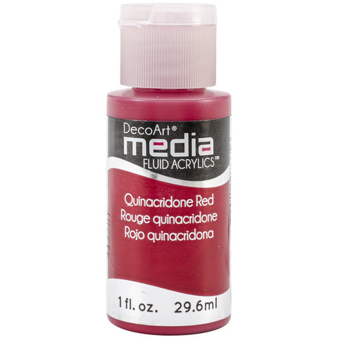 DecoArt Media Fluid Acrylic Paint Quinacridone Red Series 5