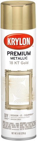 Premium Metallic Spray Paint 18 Karat Gold 8oz