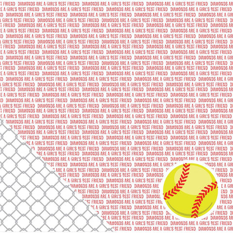 American Crafts Sport Double Sided Cardstock Softball Sentiments 12inX12in