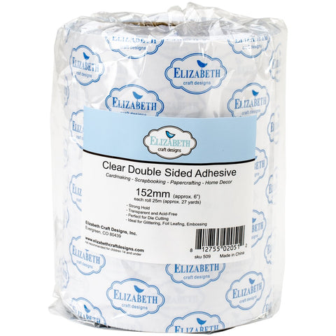 Elizabeth Craft Clear Double Sided Adhesive Tape 6inX27yd