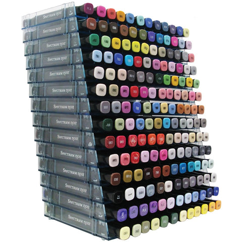 Spectrum Noir Marker Storage Racks Clear Empty Holds 168 14pk