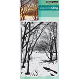 Penny Black Cling Stamp Wintry Trail 5inx7in