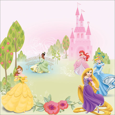 Disney Glittered Paper Princess Multi 12inX12in