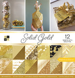 DCWV Double-Sided Cardstock Stack Solid Gold 12inX12in 36pk
