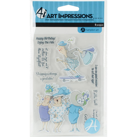 Art Impressions People Clear Rubber Stamps Got Style 4inx6in