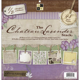 DCWV Paper Stack Chateau Lavender 24 Designs 2 Each 12inX12in 48pk