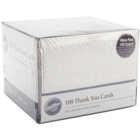 Thank You Cards and Envelopes 100pk