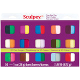 Sculpey III Oven-Bake Clay Asst Colors 1oz 30pk