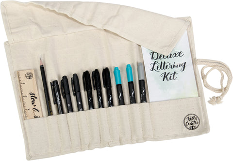 Kelly Creates Deluxe Lettering Kit Canvas 13pk