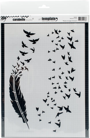 Carabelle Studio Template A4 Feathers and Clouds Of The Birds