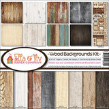 Ella and Viv Collection Kit Wood Backgrounds 12inX12in