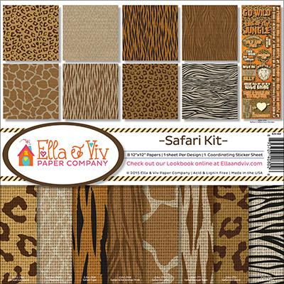 Ella and Viv Collection Kit Safari 12inX12in