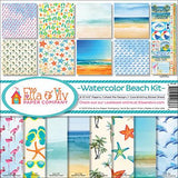 Ella and Viv Collection Kit Watercolor Beach 12inX12in