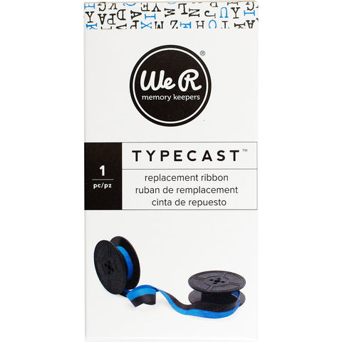 We R Typecast Typewriter Ribbon Light Blue Black