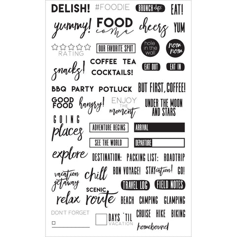 My Prima Planner Clear Stamps Frank Garcia Food and Travel 4inx6.5in