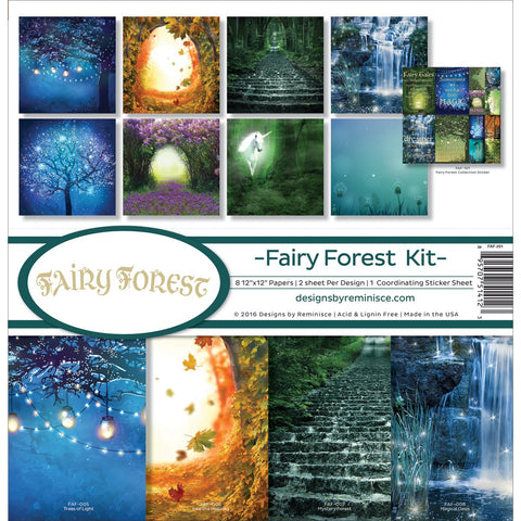 Reminisce Collection Kit Fairy Forest Fireflies Unicorn 12inX12in