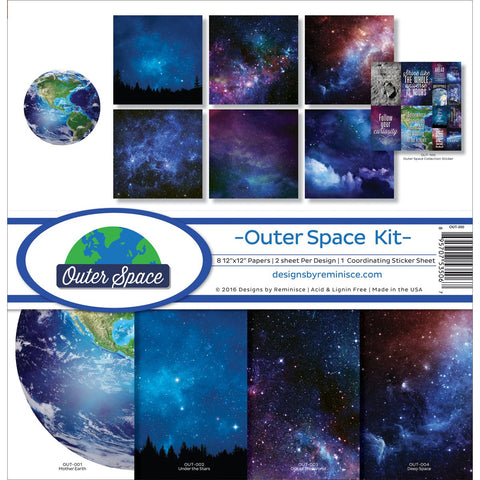 Reminisce Collection Kit Outer Space 12inX12in