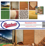 Reminisce Collection Kit Baseball 2 12inX12in
