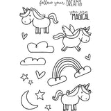 Jane's Doodles Clear Stamps Unicorn 4inx6in