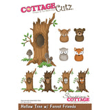 CottageCutz Die Hollow Tree with Forest Friends 3.1inx4.5in